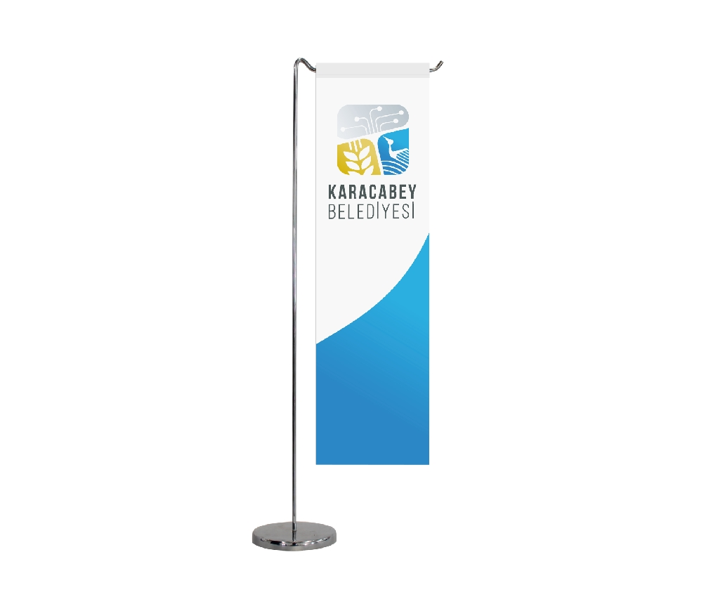 B303 TABLE FLAG STRAIGHT SHAPE