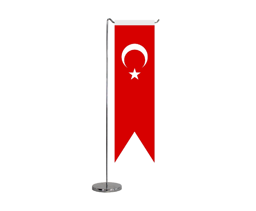 B312 TURKISH TABLE FLAG SWALLOWTAIL SHAPE