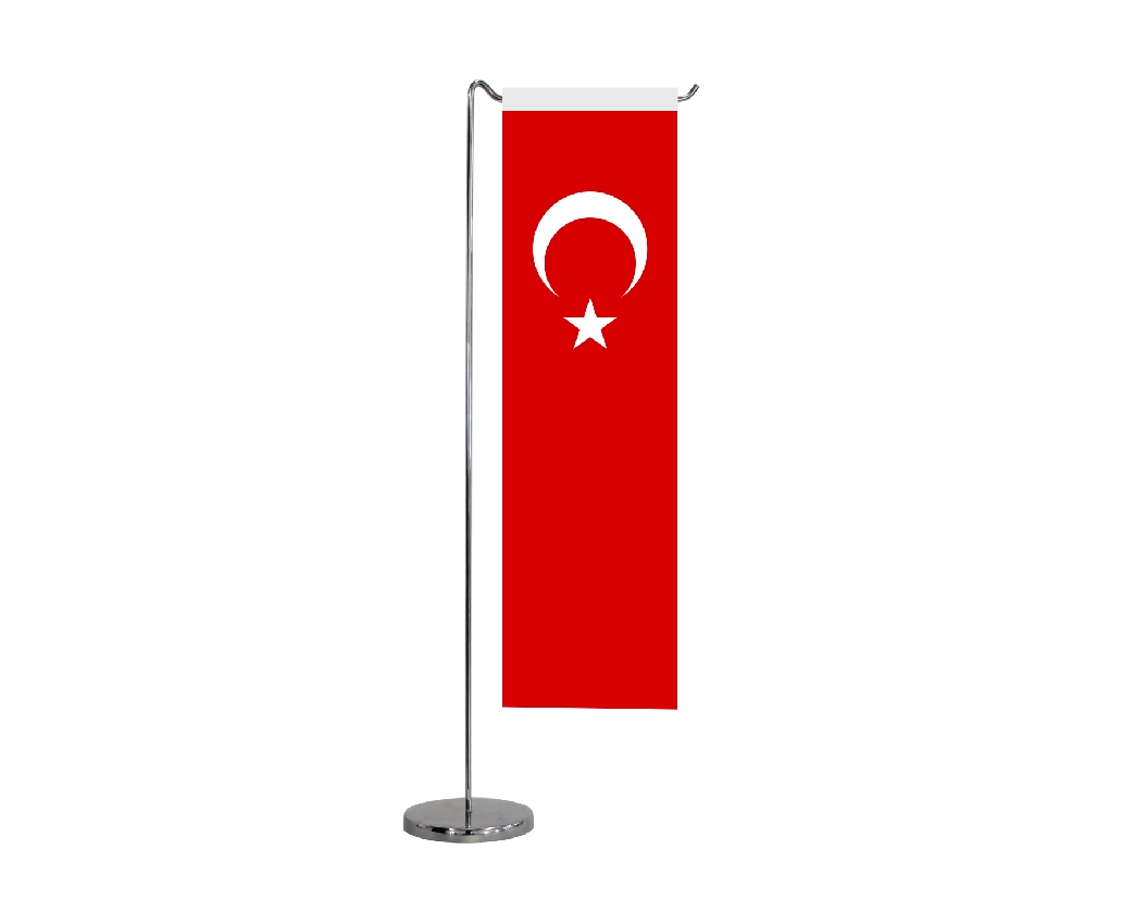 B313 TURKISH TABLE FLAG STRAIGHT SHAPE