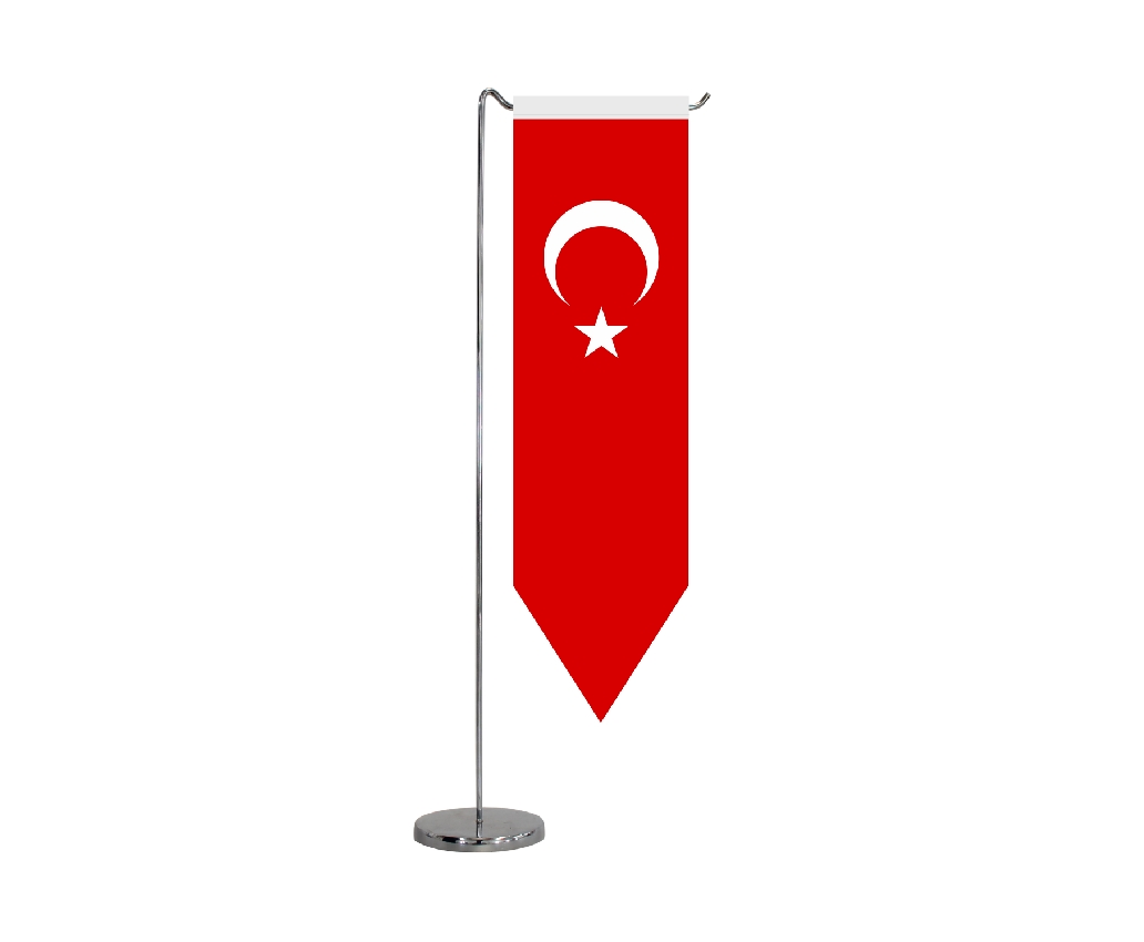 B314 TURKISH TABLE FLAG PENTAGON SHAPE