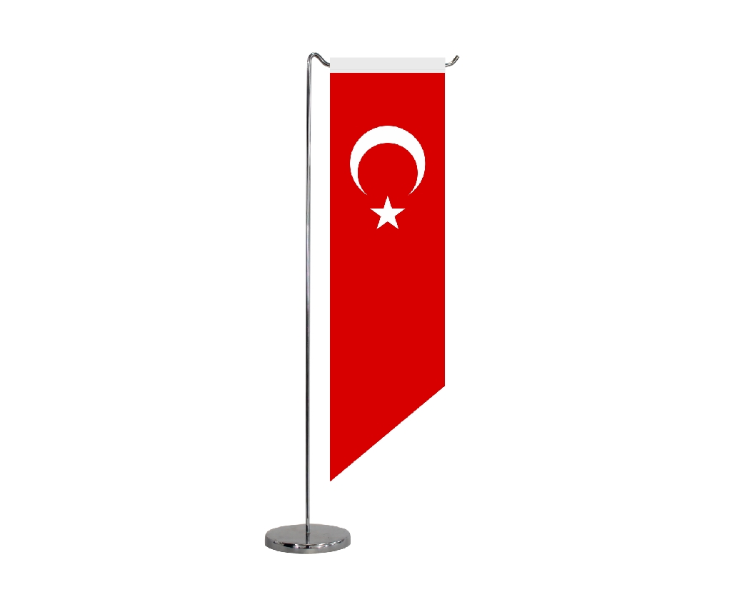 B315 TURKISH TABLE FLAG HORIZONTAL SHAPE