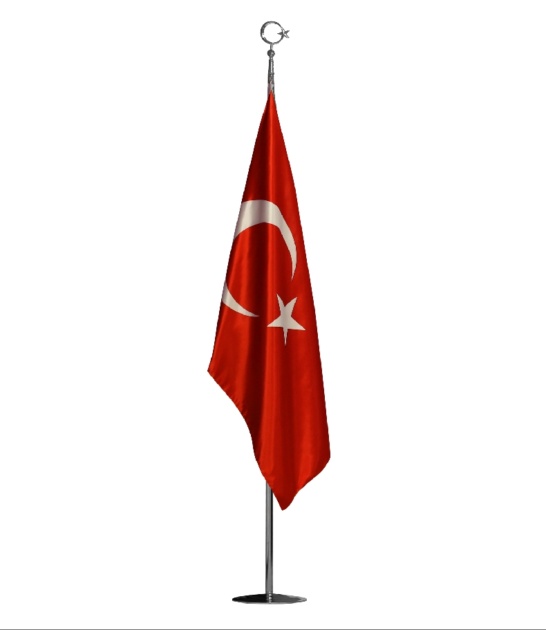 TURKISH OFFICE FLAG  DOBLE-LAYERED SATIN FABRIC