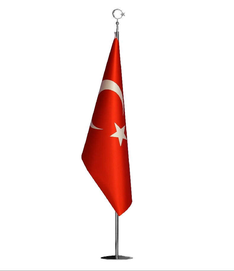 TURKISH OFFICE FLAG INTERLINED SATIN FABRIC