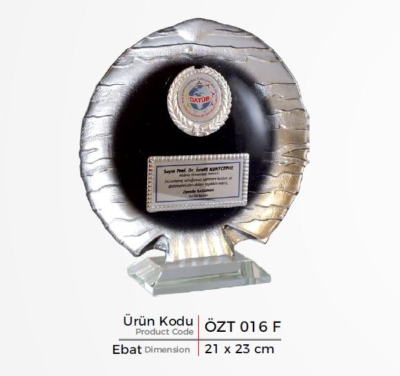 ÖZT 016 F  Glass Plaquette