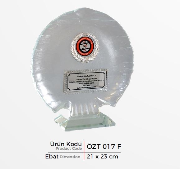 ÖZT 017 F  Glass Plaquette