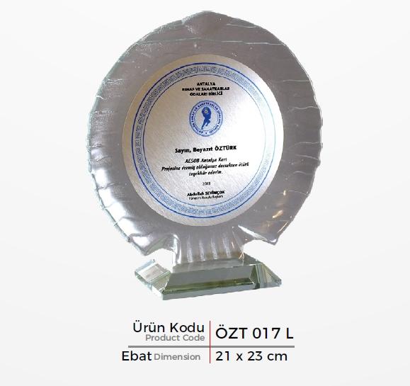 ÖZT 017 L  Glass Plaquette