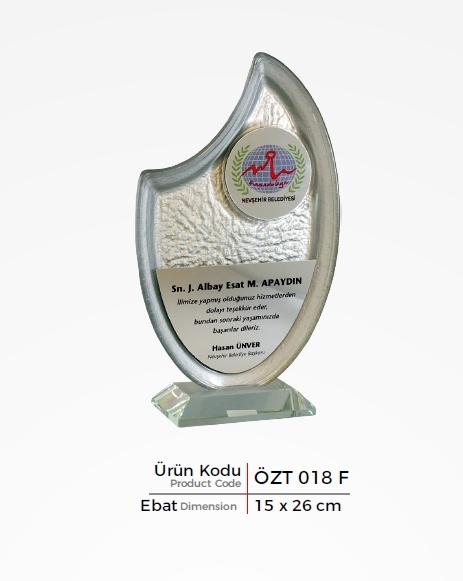 ÖZT 018 F  Glass Plaquette