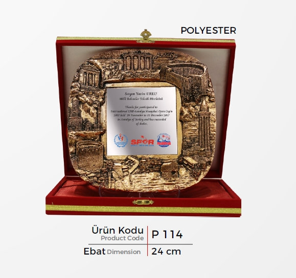 P 114  Polyester Plaquette