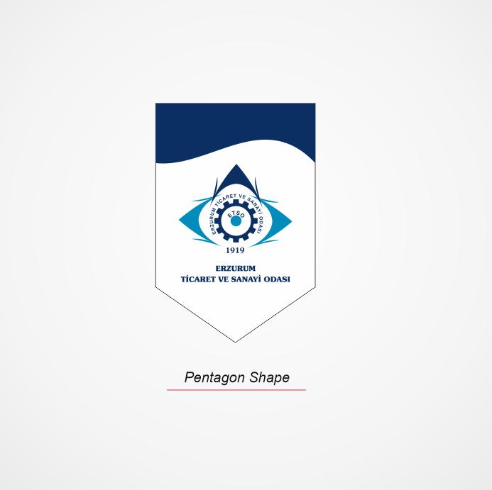 PENTAGON SHAPE STRING PENNANT FLAG