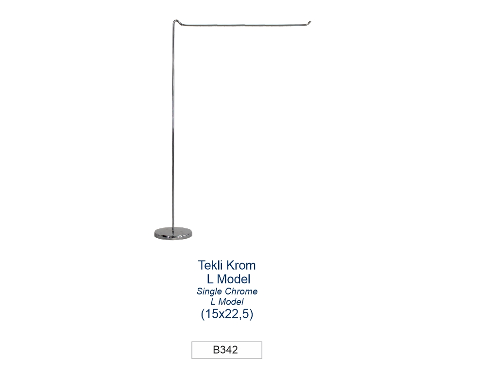 TABLE FLAG POLE SINGLE CHROME L MODEL (15 x 22,5 cm)