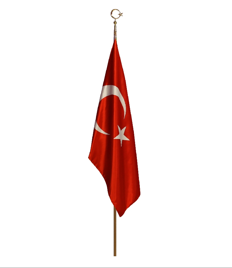 CEREMONY TURKISH FLAG DOBLE-LAYERED SATIN FABRIC