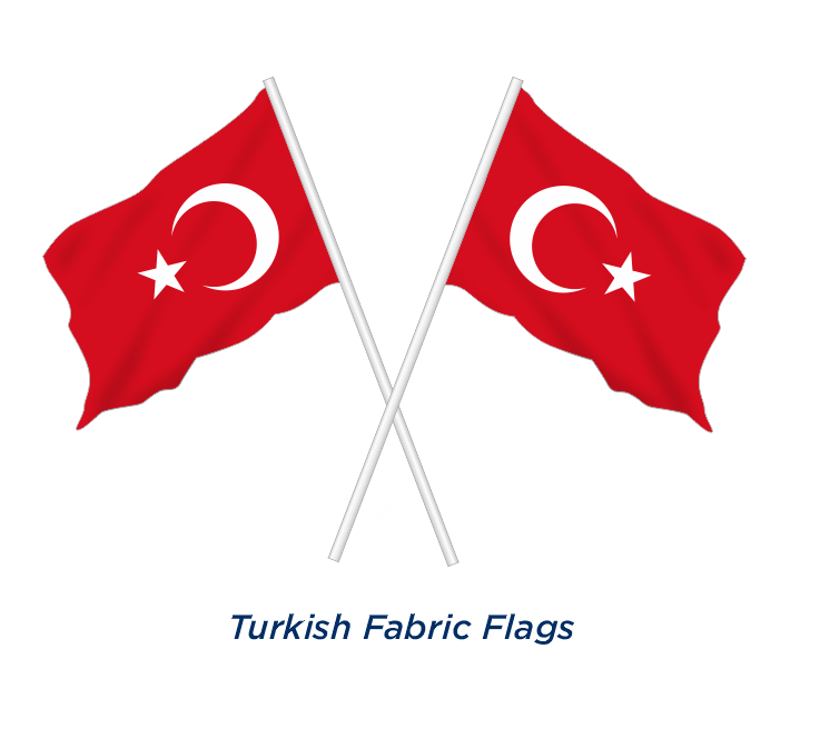 TURKISH FABRIC FLAG