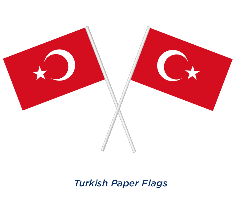 TURKISH PAPER FLAG