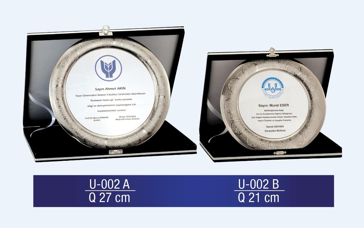 U-002 Circle Plaque