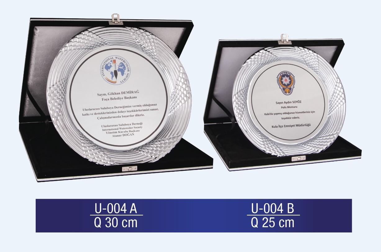 U-004 Circle Plaque