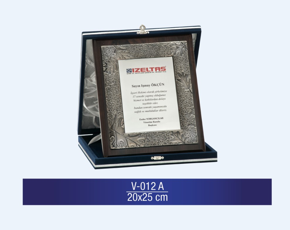 V-012 Special Plaquette