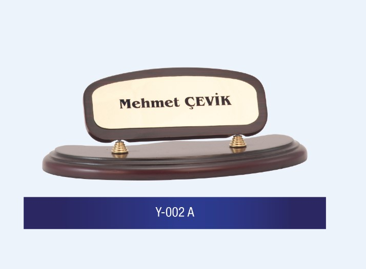Y-002 Wooden Desk Name Plates