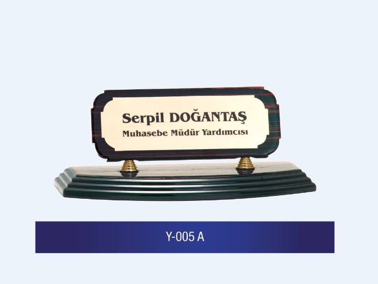 Y-005 Wooden Desk Name Plates