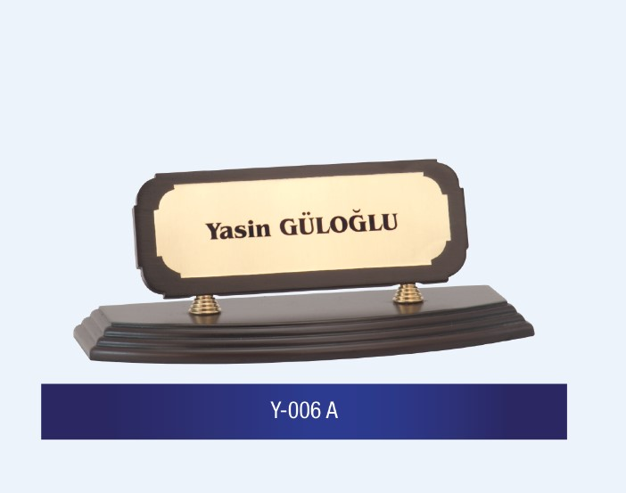 Y-006 Wooden Desk Name Plates