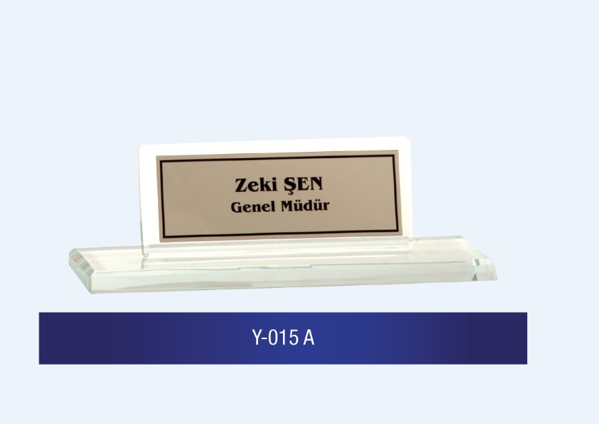 Y-015 Glass Desk Name Plates