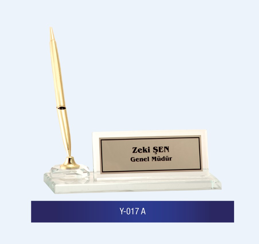 Y-017 Glass Desk Name Plates