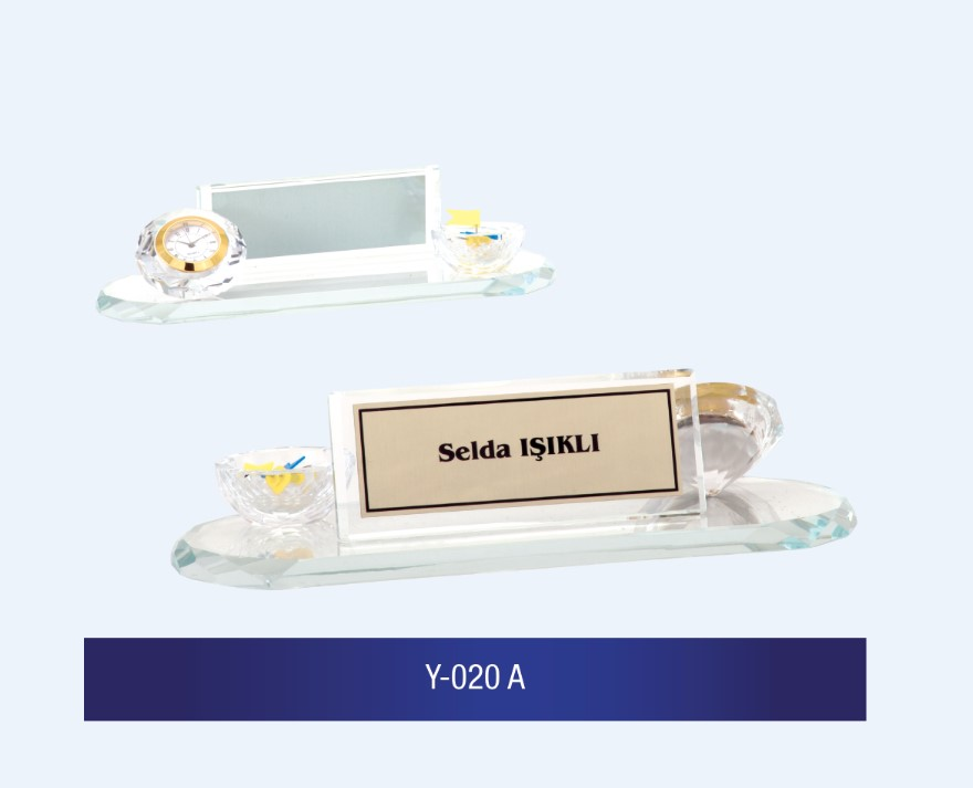 Y-020 Glass Desk Name Plates
