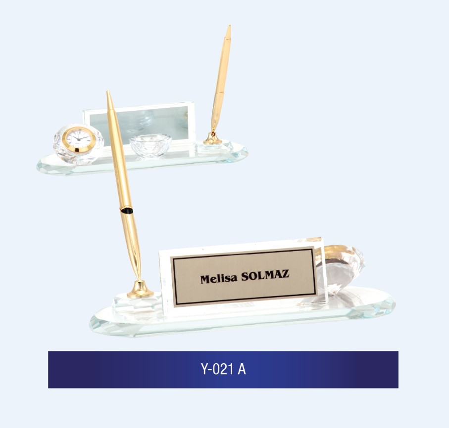 Y-021 Glass Desk Name Plates