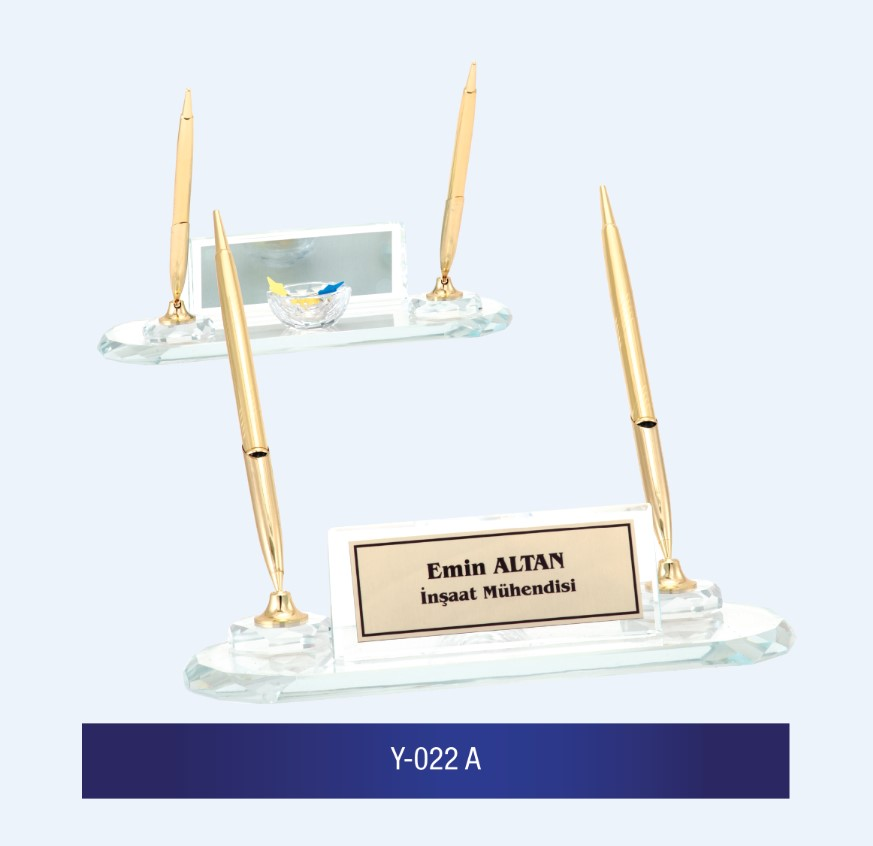 Y-022 Glass Desk Name Plates