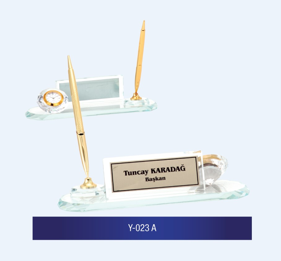 Y-023 Glass Desk Name Plates