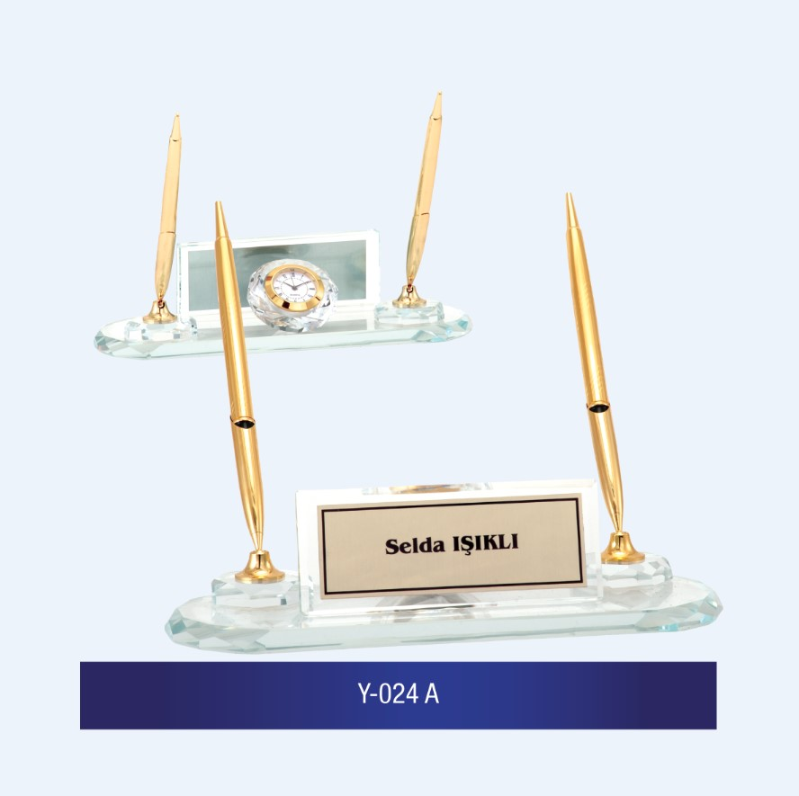 Y-024 Glass Desk Name Plates